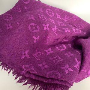 Louis Vuitton Purple Monogram Shawl